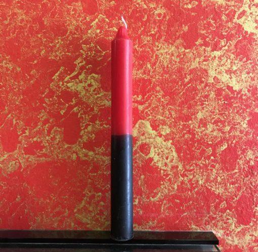 Vela Bujía Rojo-Negro